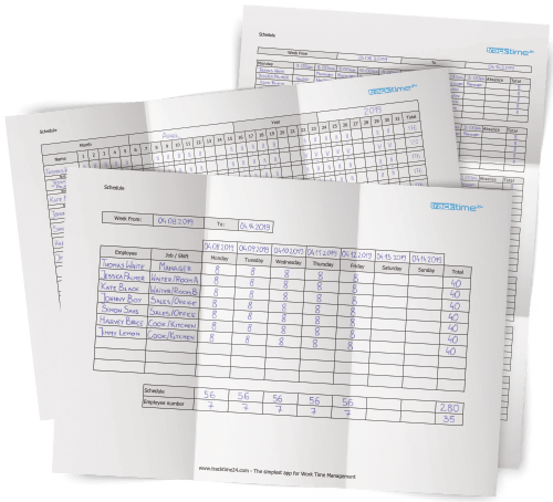 Work Schedule Template Excel Pdf Download Tracktime24