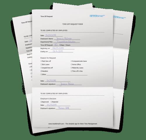 Formulaire De Demande De Conges Vacances Gratuit Tracktime24